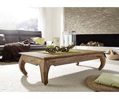 Table basse 160x80cm - Bois massif de palissandre laqué - Inspiration Ethnique-Coloniale - OPIUM #634