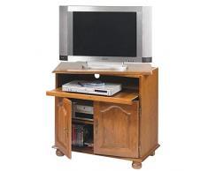 ACTUAL DIFFUSION 5609AR BRETAGNE Meuble TV avec Plateau Pivotant/Coulissant Bois 46,5 x 82 x 77 cm