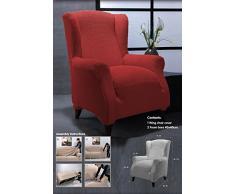 Ideal Textiles, stretch, Elastique, pour fauteuil à oreilles, lavable en machine, rouge