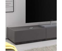 M-012 Banc TV Design Gris 3 tiroirs VALERONA