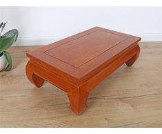 Yajutang DJ1668 Opium Table Basse en Bois Massif 72 x 24 x 40 cm