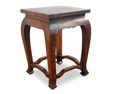 Livasia Table dopium, Table Basse | Table dappoint Hautes | Bois dacacia | Décoration Asiatique Fabriqué à la Main en Thaïlande (Marron)