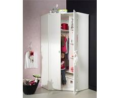 SOLDES Alfred & Compagnie - Armoire d'angle blanc av/poignées