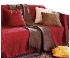 Plaid jeté fauteuil canapé jacquard soleil - T150x150cm