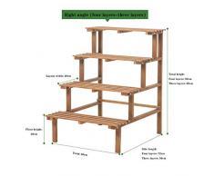 Usine stand bambou étagère échelle plante Jardinière 3 et 4 Jardin Fleur Shelf Tiers, angle droit peut être combiné avec des coins arrondis ou separatedFlower étagère Escalier for Bureau Intérieur Bal