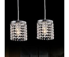 YM cristal Tiffany Suspension Lampe de Salon Métal, 220-240 V