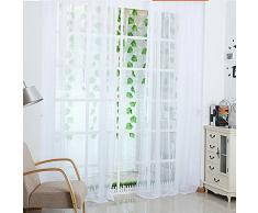 ILOVEDIY 200cm x 100cm Rideaux en Voile Salon Voilage Design Moderne Pur de Cantonnières Enfant Chambre
