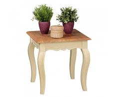 Vintage Table d'appoint angori Blanc massif 50 x 50 cm | Petite table basse en bois massif de mangue | Opium Table de salon