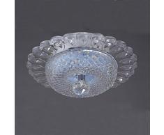 Plafonnier à LED senyang cristal plafonniers 12 W Mini style Rotunda Couverture leuch TE pour couloir, bar, Salle à manger, escaliers, chambre d'enfant Weiß & Lila