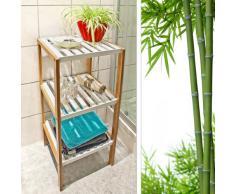 Relaxdays 10017162 Étagère en Bambou avec 3 Niveaux