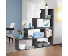 IDMarket - Bibliothèque escalier Lina bois gris