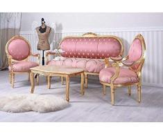 Ensemble de sièges Baroque Ensemble de sièges Salon Meuble Assis sofagarnitur Meuble Palazzo en exclusivité
