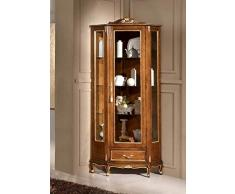 Dafnedesign.COM - Vitrine dangle Style Classique Noyer (cm. L 50 - P. 61- H. 195) (TVG).