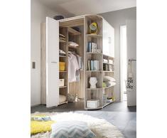 Armoire dangle Avanti Trendstore - Chêne et blanc - Environ 133-146/198 cm