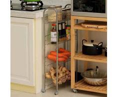 TRRE @ Mobile - Chariots à roulettes pour étagères Rangement pour la cuisine