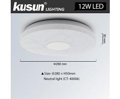Kusun® 12W Plafonniers LED Lampe de cuisine de salle de bain,1000lm, blanc chaud, 4000K CL819-Y-12W-Z