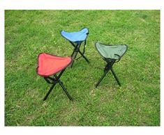 Tabouret pliable portable à l'air libre Trois tabouret de pêche pour fauteuil de pêche à l'oreille - Rouge, Bleu, Vert , Red