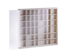 Zeller 12112 Étagère Multi-Cases en pin munie dune vitre bois, 45 x 4,5 x 40 cm