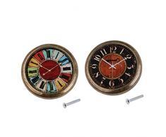 Baoblaze 2 Pcs Poignée De Porte Vintage Horloge Commode Boutons Meuble Antique