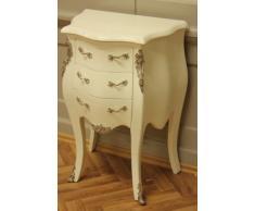 Petite commode baroque, peint en blanc crème