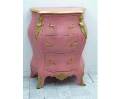 commode baroque rose / rocaille rose Louis XV MoCoC07022