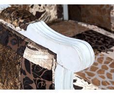 massivum 10021674 Patchwork Fauteuil à oreilles florese plastique, Marron, 83 x 80 x 165 cm
