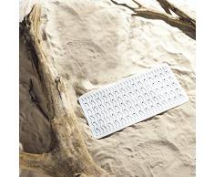 Ridder 683010-350 Playa Tapis Antidérapant pour Baignoire Caoutchouc Synthétique Blanc 38 x 80 cm