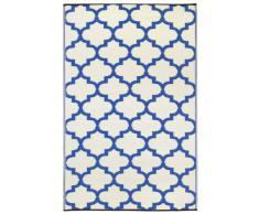 Fab Habitat Intérieur / Tapis extérieur Tanger - Régate bleu & blanc (120cm x 180cm)