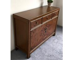 OPIUM OUTLET Commode Sideboard Marron Console chiffonnier Buffet Vintage Antique Shabby-Chic