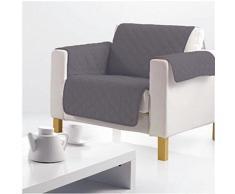Douceur dIntérieur 1605235 Protège fauteuil matelassé gris 165 x 179 cm