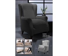 Ideal Textiles, stretch, Elastique, pour fauteuil à oreilles, lavable en machine, Noir