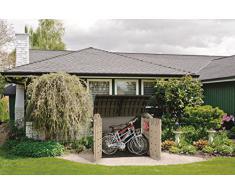Chalet-Jardin 12-922471 Grand Coffre Multifonction pour le Jardin Polypropylène Beige/Marron Clair 177 x 113 x 134 cm