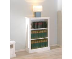 Petite bibliothèque blanc rustique en pin massif