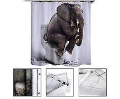 Stillshine Rideaux de douche Fournitures de salle de bain animaux imperméable à l'eau rideau de douche, polyester avec 12 crochets ,tapis de chambre matelas salle de bain salon cuisinière tapis de cuisine couverture antidérapante