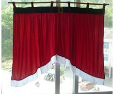 Rideaux Salon Design Moderne Kolylong Accueil Porte Fenêtre Drapé Panneau de Noël Rideau décoratif (92*160*77cm, C)