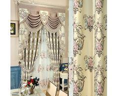 SQDJJCL-Jacquard soie rideaux d'rembourré de luxe sur mesure rideaux salon personnalisé l'écran de la fenêtre de chambre à coucher,rideaux par mètre