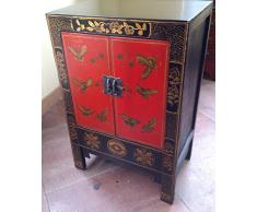 Antique armoire commode buffet chinois la Chine commode chinaside bord Tibet Asiatika Asie KABINET Armoire 2 portes Chine breite57 x höhe85 cm