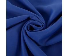Deconovo Lot de 2 Rideaux Occultants de Salon à Oeillets Isolant Thermique 117x138cm Bleu