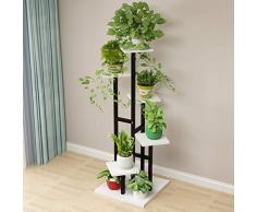 TPJJ Bois Escalier-Style Etagères De Plantes, Multifonctionnel Prise De Pot De Fleur Étagère De Fleur pour Terrasse Indoor-e