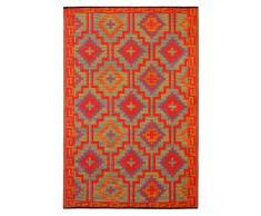 Fab Hab - Lhasa - Orange & Violet Intérieur Extérieur/tapis (150cm x 240cm)
