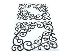 4 pcs/feuille élégant amovible d'angle Grand format Applique Cadre Meuble miroir mural Stickers pour fenêtre pour maison Porte d'armoire Decor Craft Miroir Vigne Décoration murale Autocollant Coin Autocollant