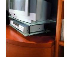 Santarossa-Meuble Tv Structure Pivotant en Verre FD9510 Dim. H.15,5 P.35 70 cm