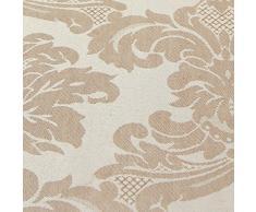 Just Contempo Paire de rideaux jacquard plissés Entièrement doublés Motif floral + embrasses, Polyester, Beige/écru, Paire de rideaux 168 x 183 cm (salon)