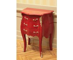 Petite commode baroque, raccords, argent rouge
