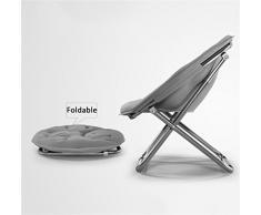 BZEI-Chair Grande chaise de lune pliable pour adultes Chaise de soleil Toile Canapé paresseux Rond Défléchissante portable (couleur multiple) ( Couleur : Bleu marin )