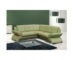 JUSThome ORION BIS Canapé d'angle en cuir écologique (L x P): 225 x 225 cm Blanc
