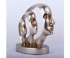CCWDRZ Statue-Demi-Face modèle résine Artisanat Articles d'ameublement à la Main Demi Visage Ornement Salon Meuble TV décor Haut de Gamme Cadeaux