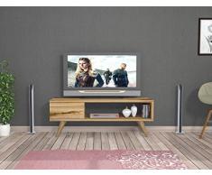 MAYA Meuble TV bas - Couleur du bois naturel - meubles de télévision au design élégant
