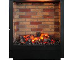 rubyfires Cheminée électrique Cheminée Cheminée électrique incluse umbau Cadiz utilisation Cheminée d'angle, Mystic Fires RF 20 mit Steindekor