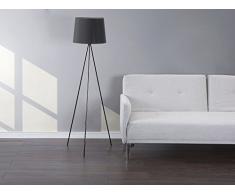Lampadaire design - luminaire - lampe de salon - noir SAMBRA